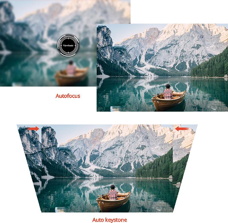 Projizieren von perfekten Bildern in wenigen Sekunden