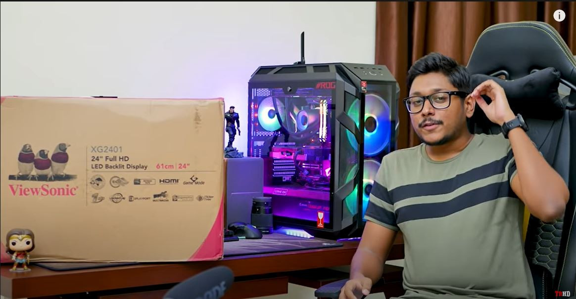 XG2401 unboxing by Vimal Chintapatla