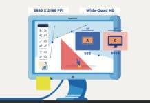 high-resolution graphic design monitor