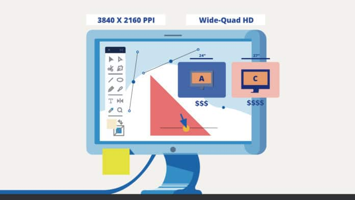 high-resolution graphic design monitor