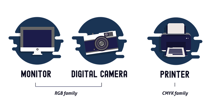 monitor-digital camera-printer