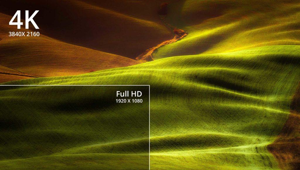4K-Ultra-HD on a smart projector