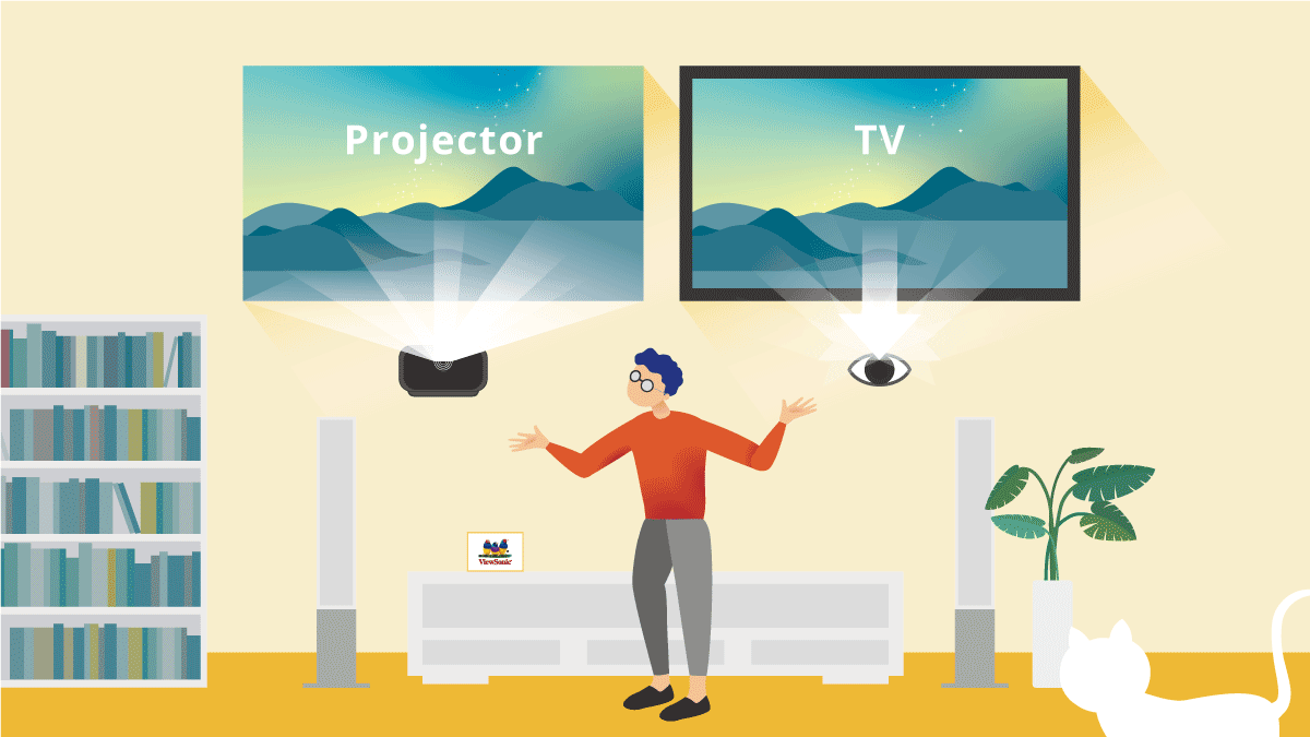 Projector Vs Tv Consideration To Eye Health Viewsonic Library