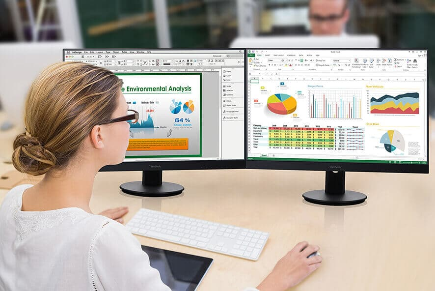 How to Choose the Best Monitor for Business - Dual Monitors