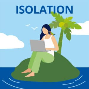 Problems with Working from Home - Isolation