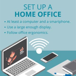 Work from Home Productivity Tip - Set Up a Home Office