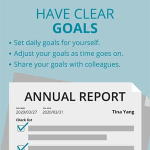 Work from Home Productivity Tip - Have Clear Goals