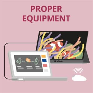 Working at Home Tips - Use the Proper Equipment