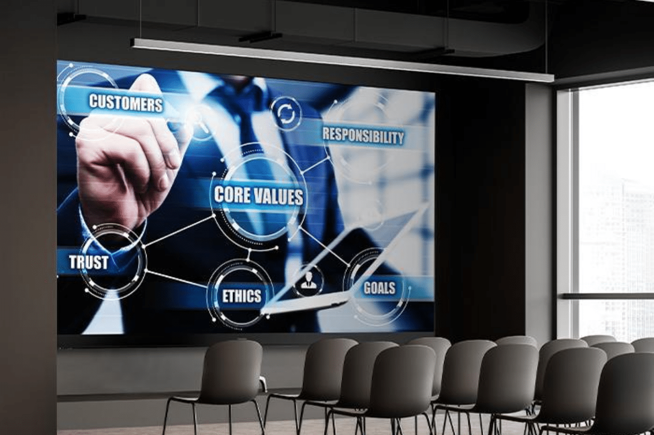 How to Choose a Presentation Display for Your Meeting Space - Direct View LED in office