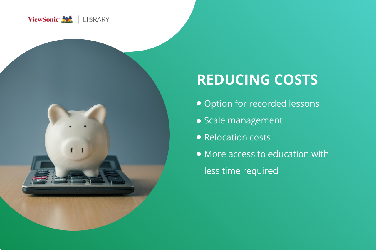Benefits of distance education - lower costs