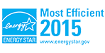 Recognized as 2015 ENERGY STAR Most Efficient Product