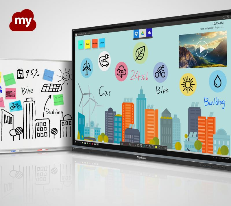 ViewSonic IFP8650-M2 86'' ViewBoard® 4K Ultra HD Interactive Flat Panel MDM Bundle 2 whiteboarding