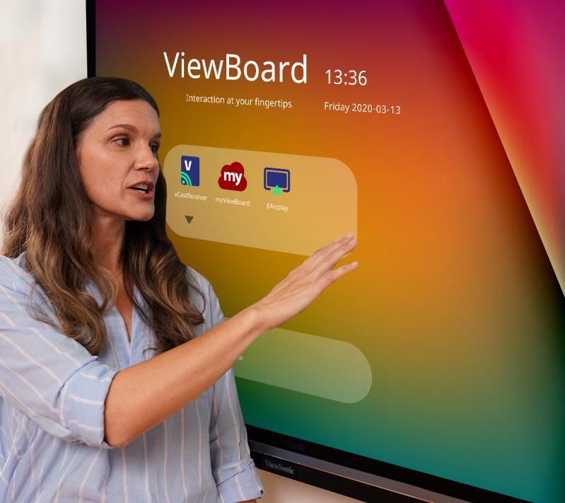 ViewSonic IFP8650-M1 86'' ViewBoard® 4K Ultra HD Interactive Flat Panel MDM Bundle 1 for class room