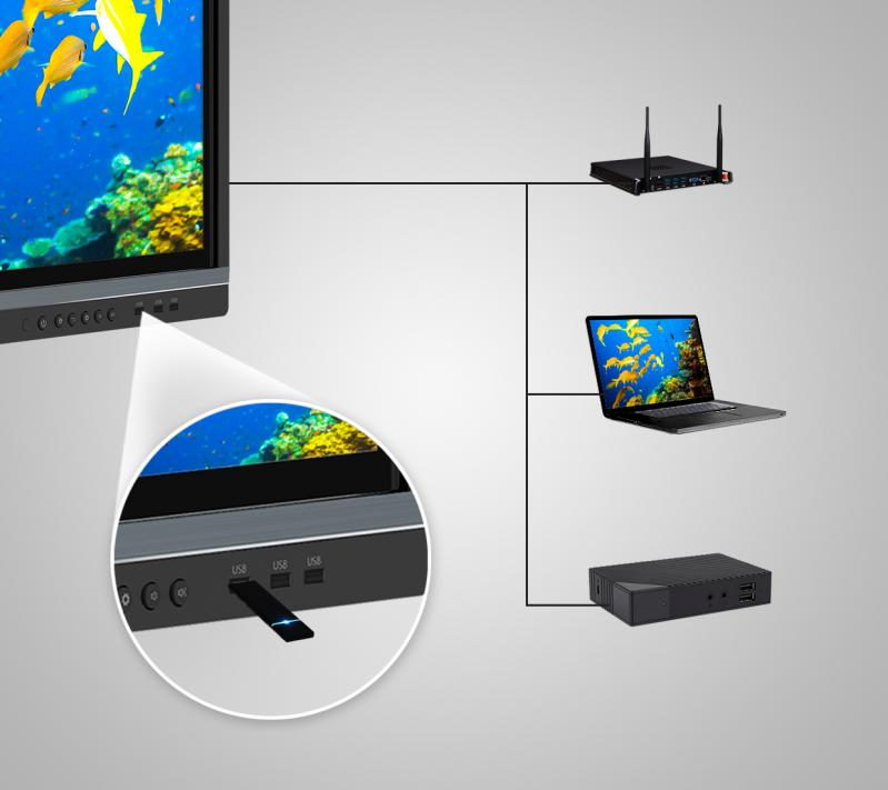 ViewSonic IFP8650-M2 86'' ViewBoard® 4K Ultra HD Interactive Flat Panel MDM Bundle 2 smartport USB