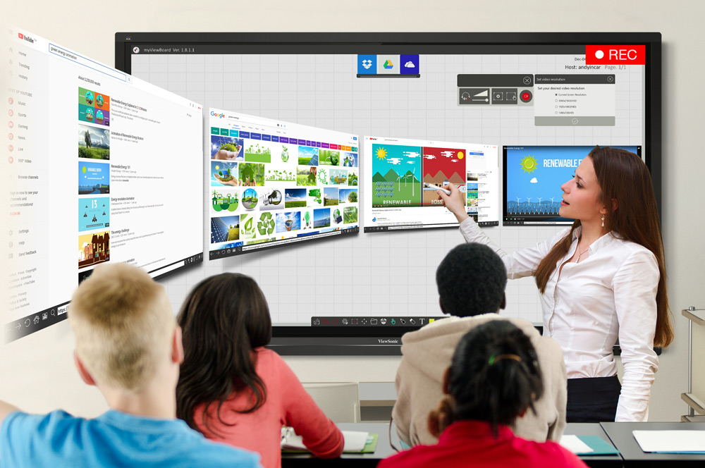 Interactive Touch Screen Displays Screen Record Lessons