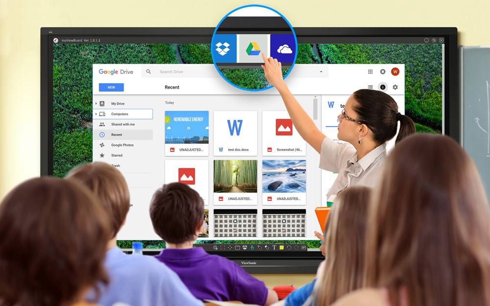 Touch Display Enhances Classroom Management