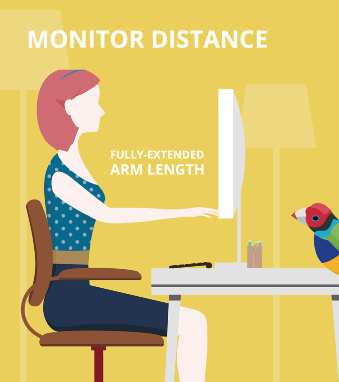 Image result for Distance from monitor