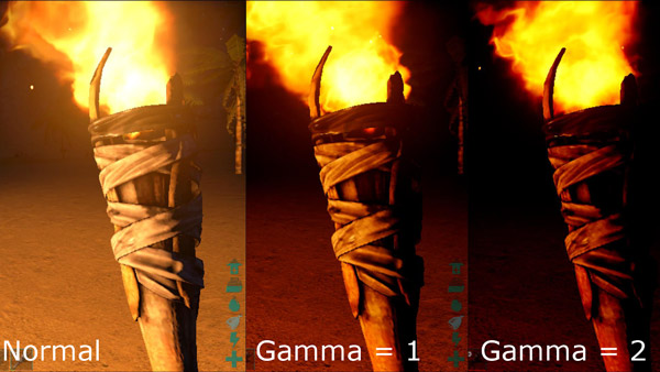 Gamma Correction Normal to 2
