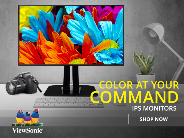 IPS Monitor with Flower Image