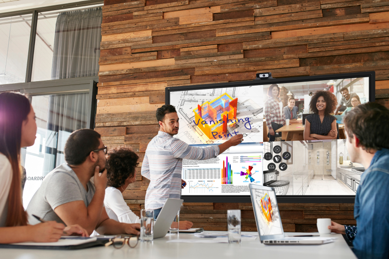 Collaboration displays use in a business setting