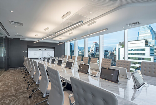 video conferencing technology in the boardroom