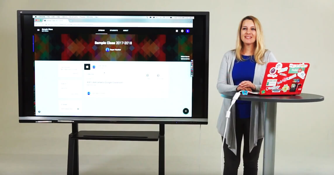 Alice Keeler Google Classroom on Interactive Whiteboard