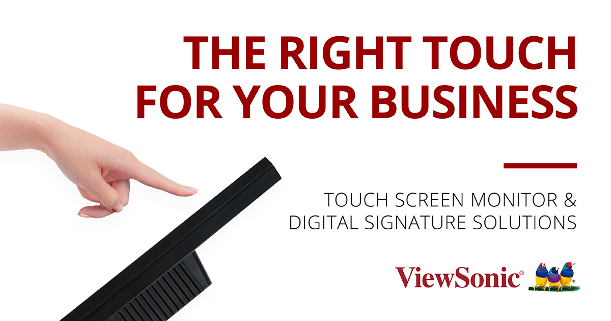 <b>Touch</b> Signage and Kiosk | ViewSonic <b>Touch</b>