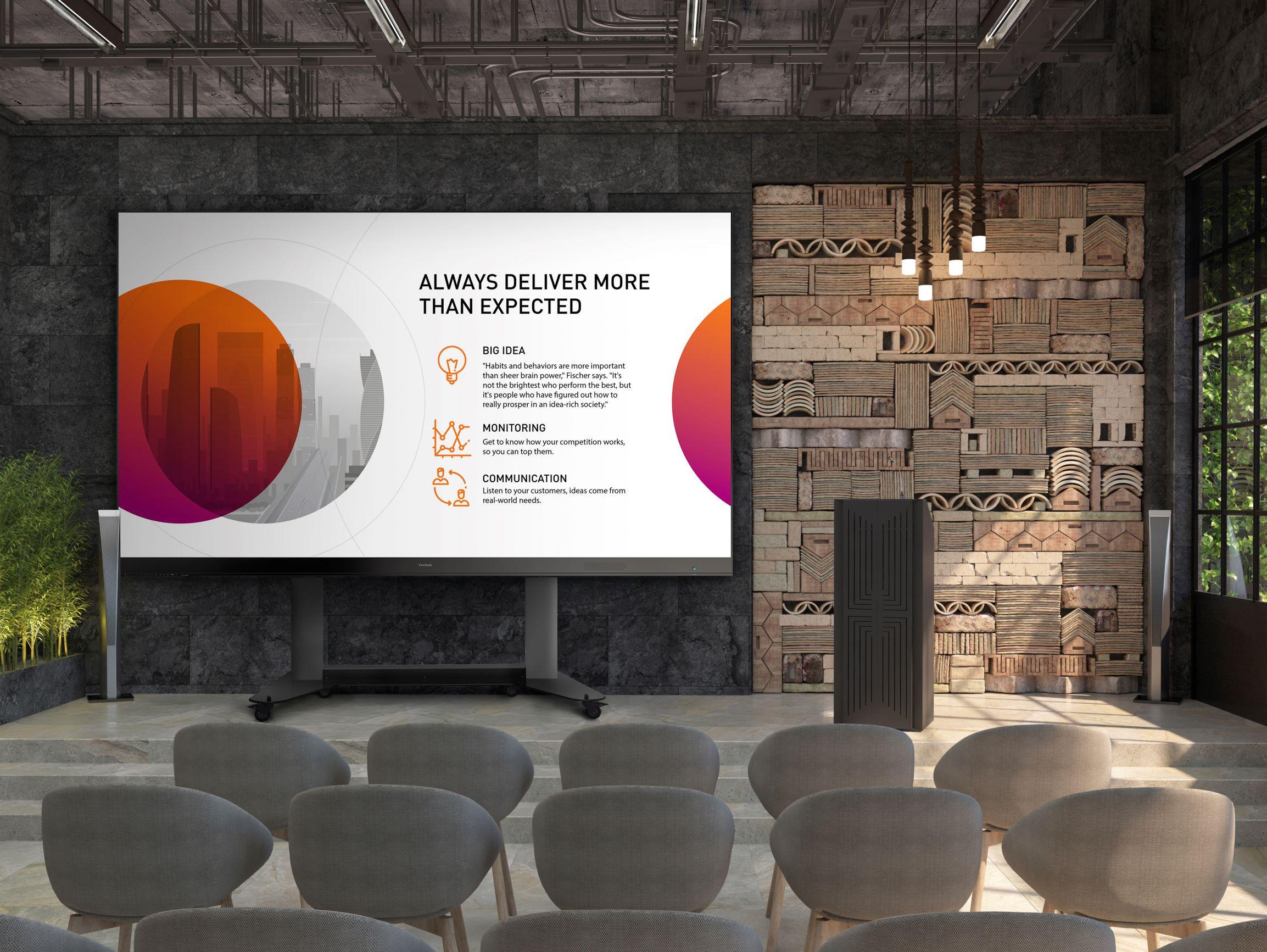ViewSonic全新All-in-One LED顯示器免組裝移動式解決方案