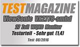 Quad-HD und ultradünner Rahmen: Der Viewsonic VX2778-smhd im Test