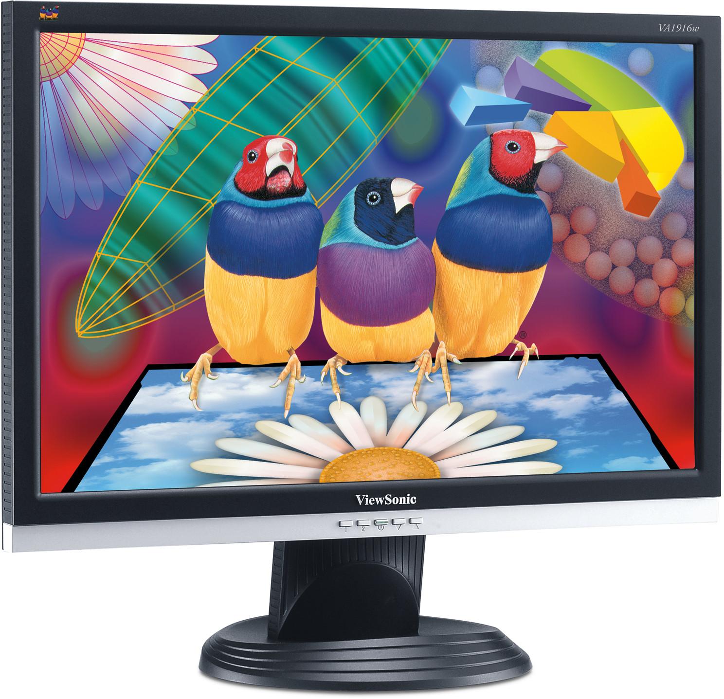 ViewSonic VA20w 20 cm/20 Zoll LCD Breitbildmonitor der VA Serie ...