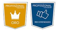 El equipo de Profesional Review le otorga la medalla de oro y producto recomendado al proyector ViewSonic PX747-4K.