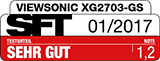 """XG2703-GS: SFT-Test – Note 1,2 (""""very good)"""