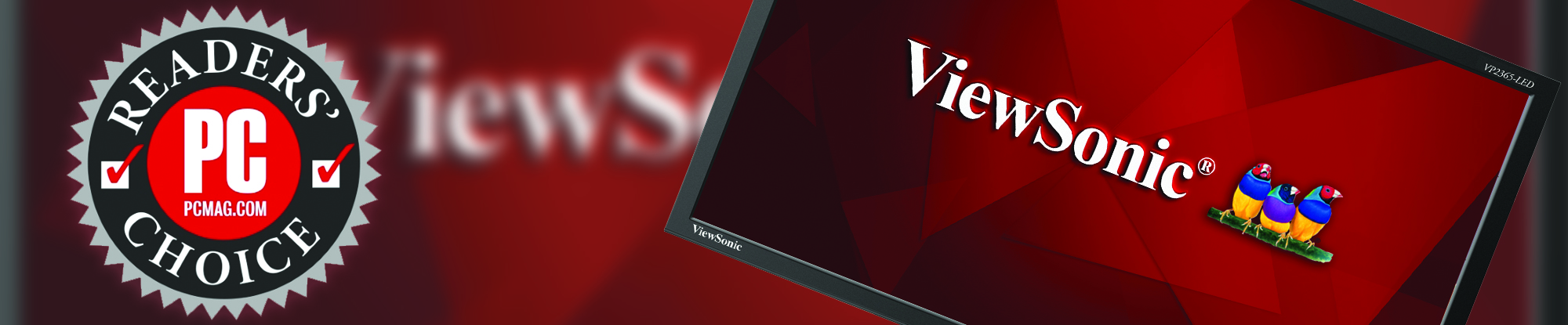 ViewSonic Wins PCMag Readers' Choice Award by  Sweeping the Overall Monitor Category