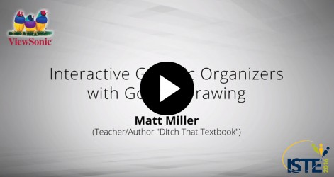 Interactive Graphic Organizers with Google Drawing with Matt Miller