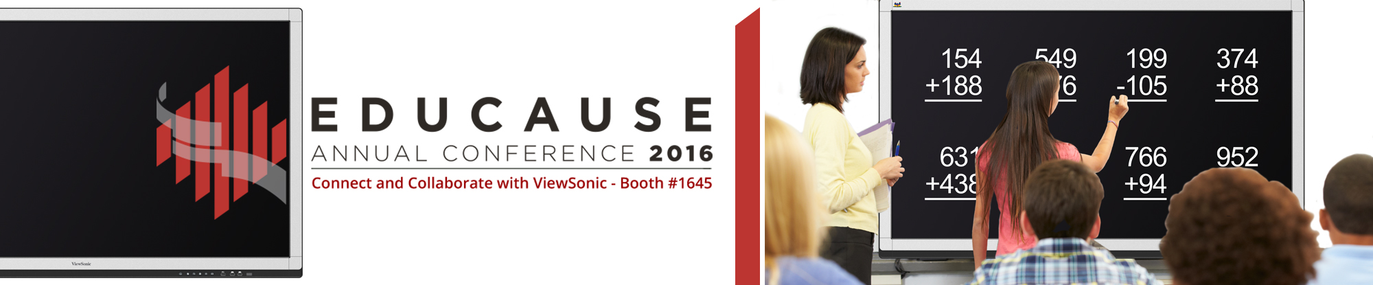 ViewSonic Showcases Collaboration Solutions at EDUCAUSE 2016 with Award-Winning Interactive Displays and Projectors