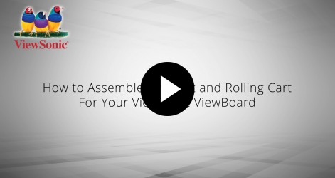 How to Assemble a Mount and Rolling Cart for Your ViewSonic ViewBoard