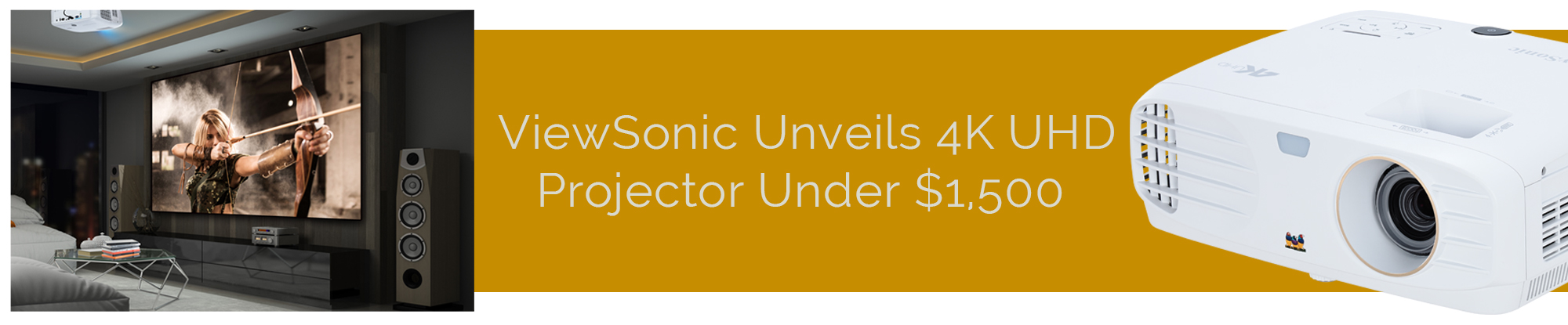ViewSonic Shakes Up 4K Projector Market with PX727-4K for Under $1500;  Offers HDR-Compatibility and Delivers Stunning Picture Quality