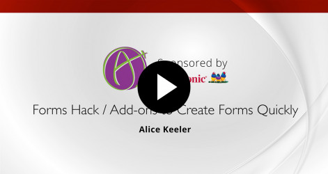 56. Create a Form Quickly