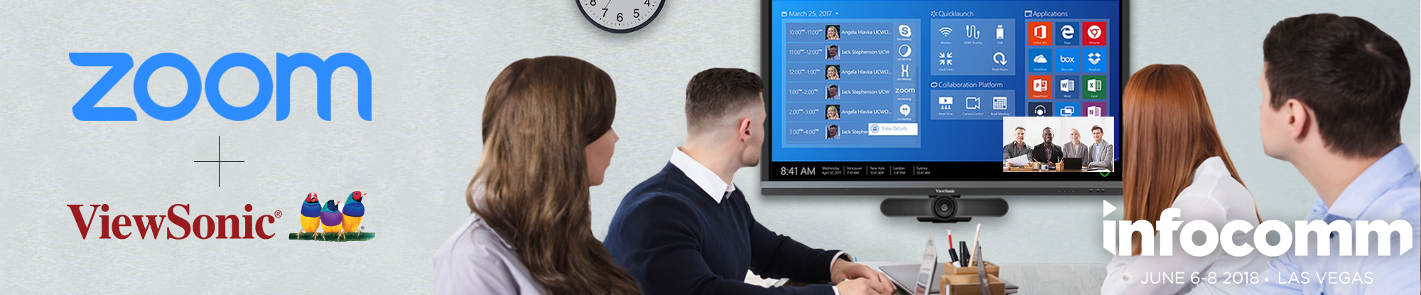 ViewSonic Integrates Zoom to Boost  Workspace Collaboration