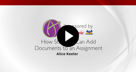 Student Adds Document to Assignment - Alice Keeler
