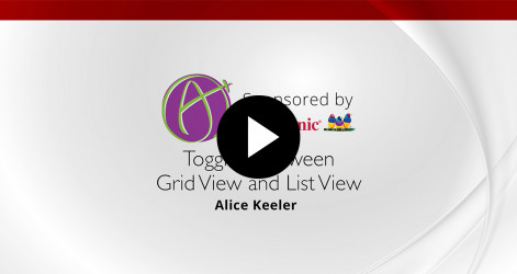 Toggling Between Grid View and List View - Alice Keeler