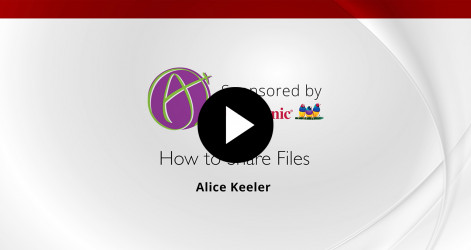 How to Share Files - Alice Keeler
