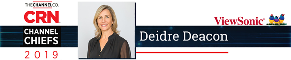 Deidre Deacon, General Manager of ViewSonic Canada, Recognized as 2019 CRN® Channel Chief