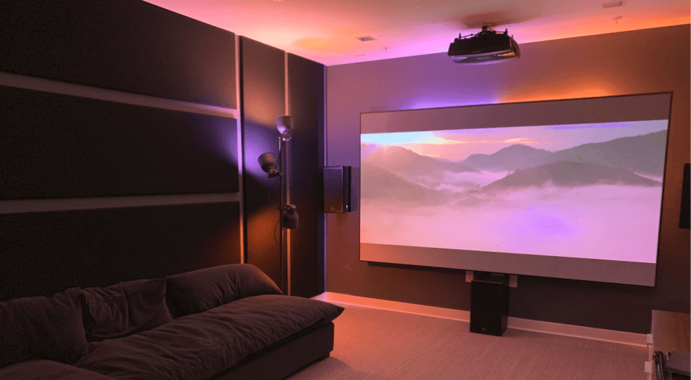 Laser Projector Illuminates the Room