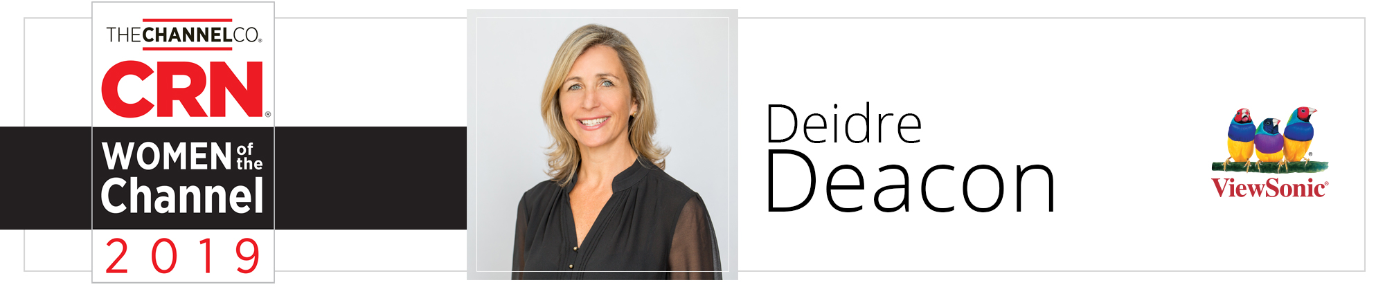 Deidre Deacon, General Manager of ViewSonic Canada, Honored  as One of CRN's 2019 Women of the Channel