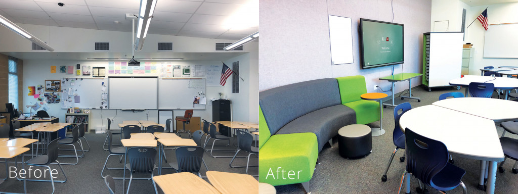 Before After SCALE UP Classroom Transformation