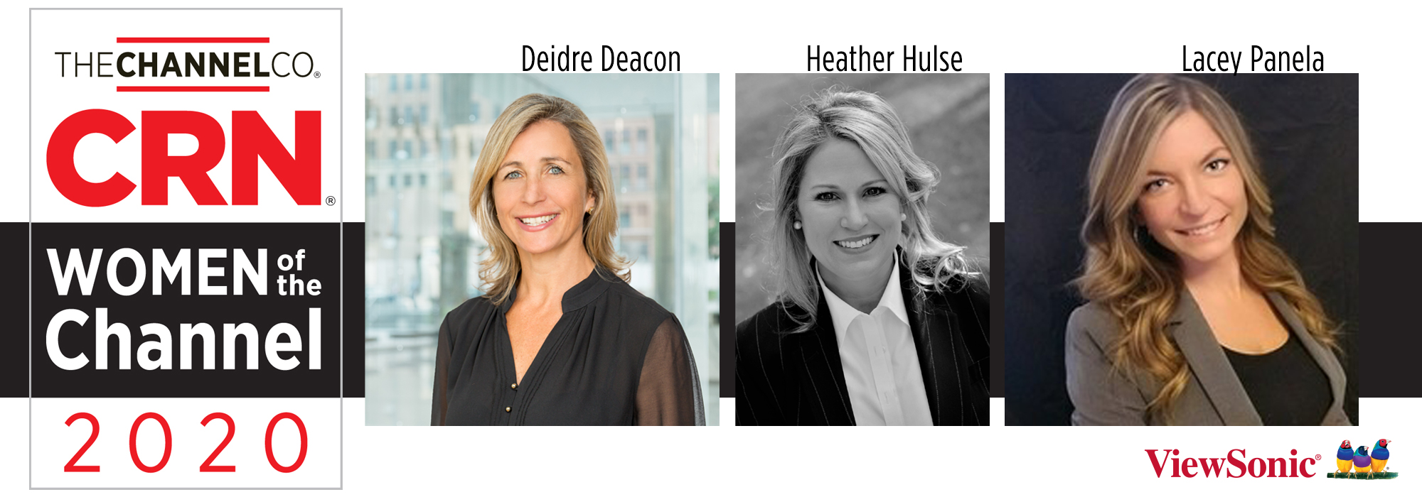 Deidre Deacon, Heather Hulse and Lacey Patnella of ViewSonic Recognized as Part of CRN's 2020 Women of the Channel