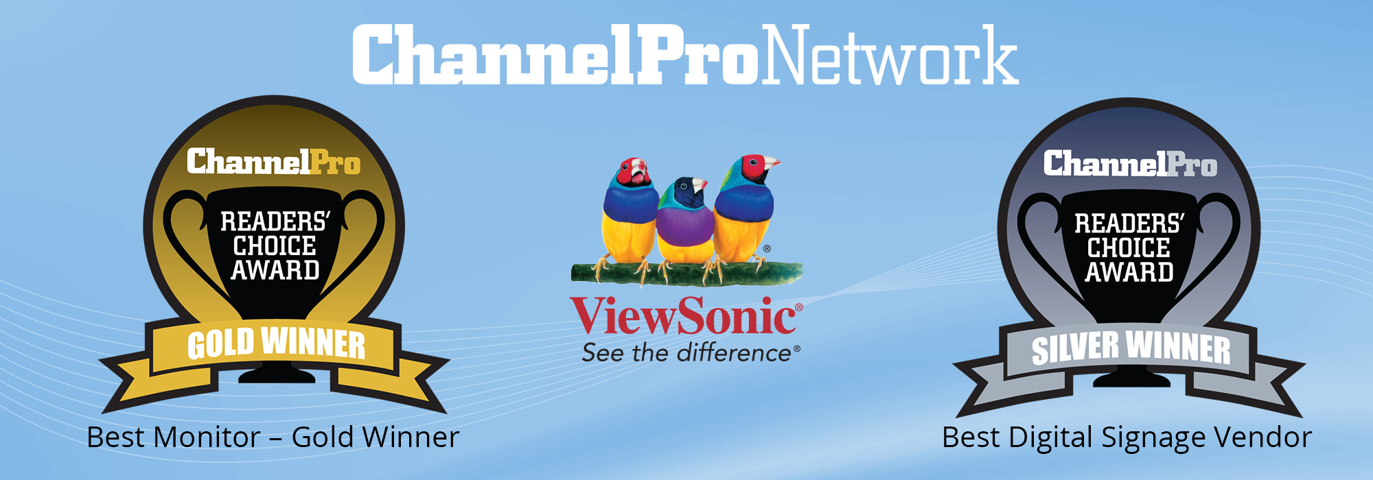ViewSonic Awarded with Gold and Silver in Two Categories in the 2020 ChannelPro-SMB Magazine's Readers' Choice Awards