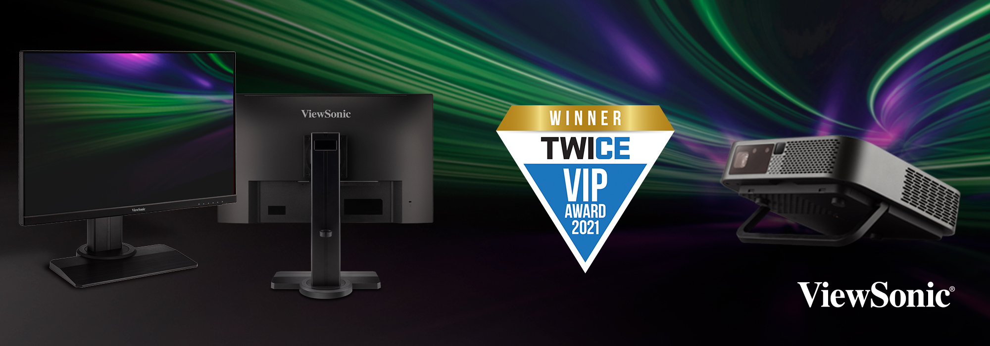 The ViewSonic XG2705-2K and M2e Products Honored with a 2021 TWICE VIP Award